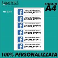 ADESIVO NOME 100% PERSONALIZZATO (FOGLIO A4)