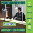 PANNELLO PROTEZIONE PLEX PARAFIATO PARASPUTI ANTI BATTERI VIRUS COVID + OMAGGIO - H. 75 cm, A. 50 cm, P. 25 cm