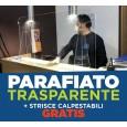 PANNELLO PROTEZIONE PLEX PARAFIATO PARASPUTI ANTI BATTERI VIRUS COVID + OMAGGIO - H. 75 cm, A. 100 cm, P. 25 cm