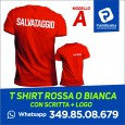Modifica: T-Shirt Maglia Bagnino Salvataggio Salvamento Rossa - Distanziamento sociale